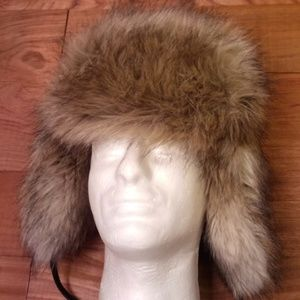 Lady's Faux Fur Winter Snow Hat Medium